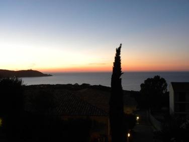 Blick auf La Revellata von unserer Terrasse aus