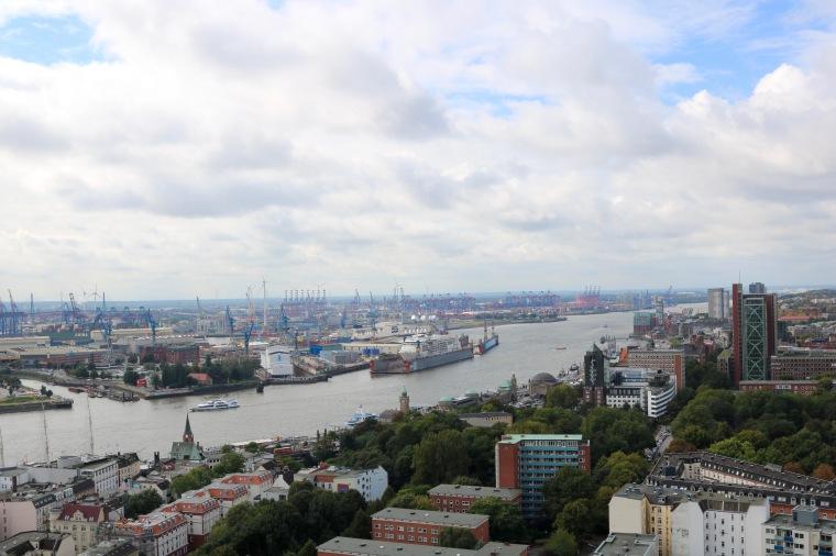 Aussicht vom Michel_Hamburg_Hafen_Elbe