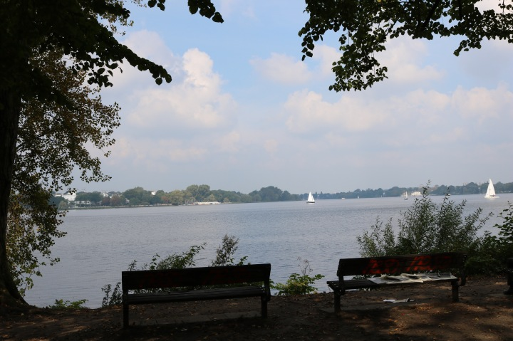 Blick auf die Außenalster in Hamburg