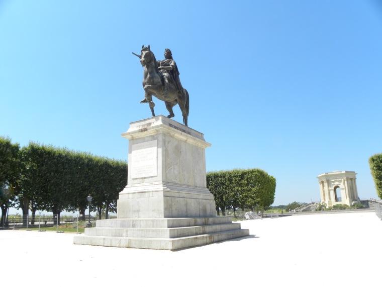 Reiterstandbild vom Sonnenkönig