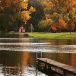 Das Tullner Aubad im Herbst