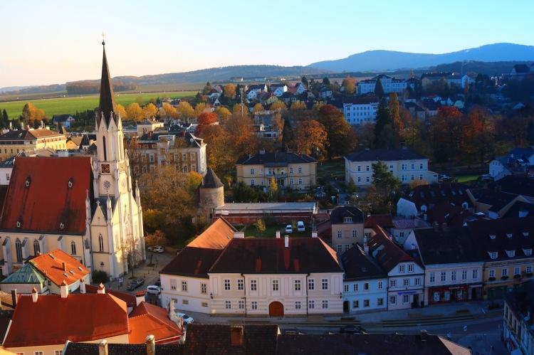 Blick von der Altane auf die Stadt Melk