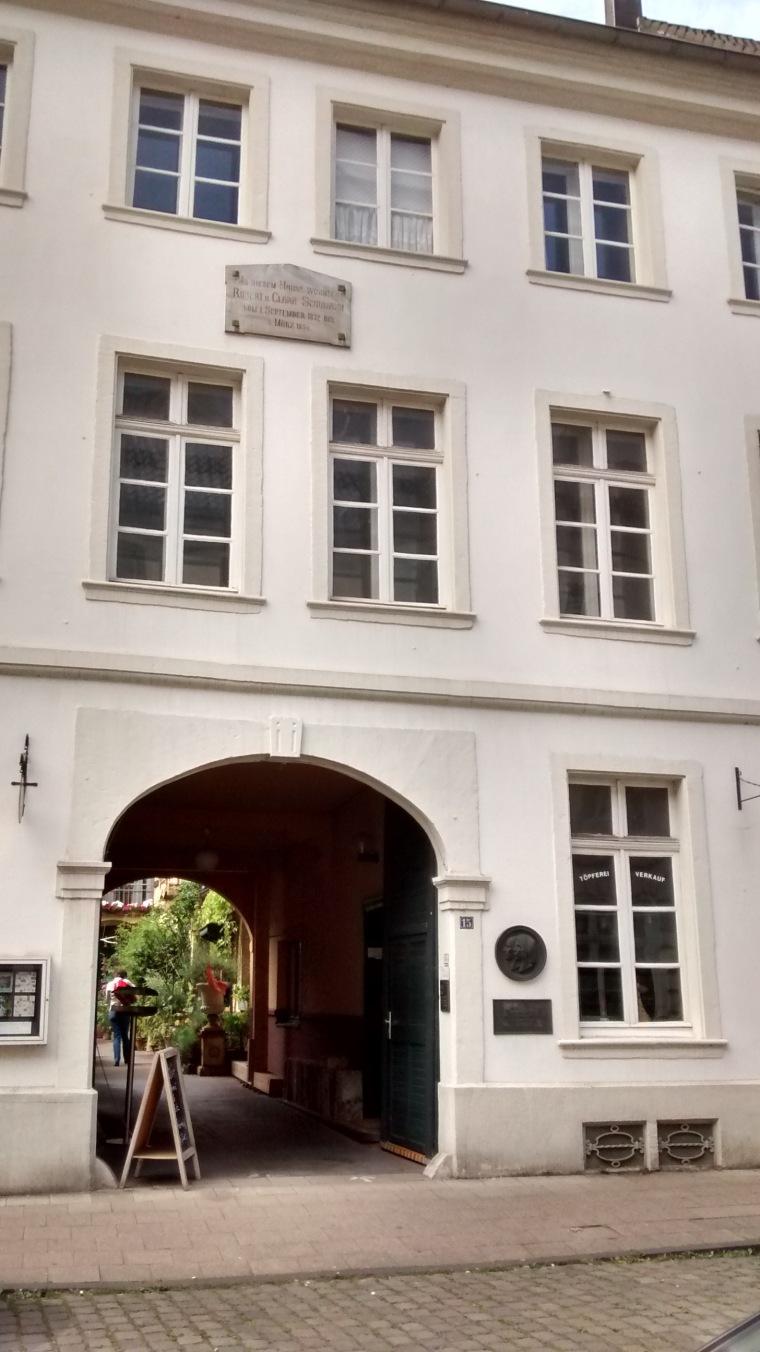 Das Wohnhaus von Clara und Robert Schumann