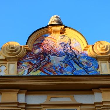 Die Tugend Mäßigung wird allegorisch in Form von Feuer und Himmel dargestellt.