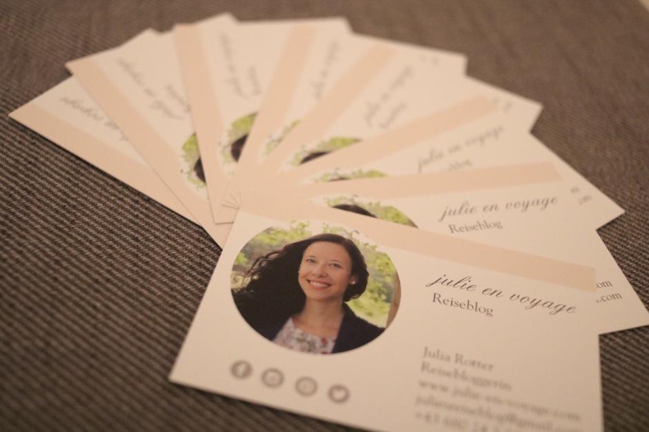 Brauche Ich Als Reisebloggerin Visitenkarten Julie En