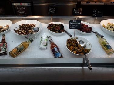 Salatbuffet im Vegg go