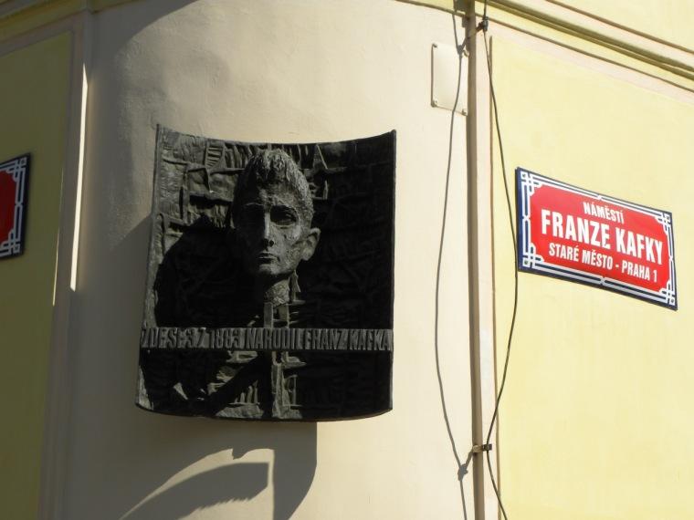 Kafka-Straße in Prag