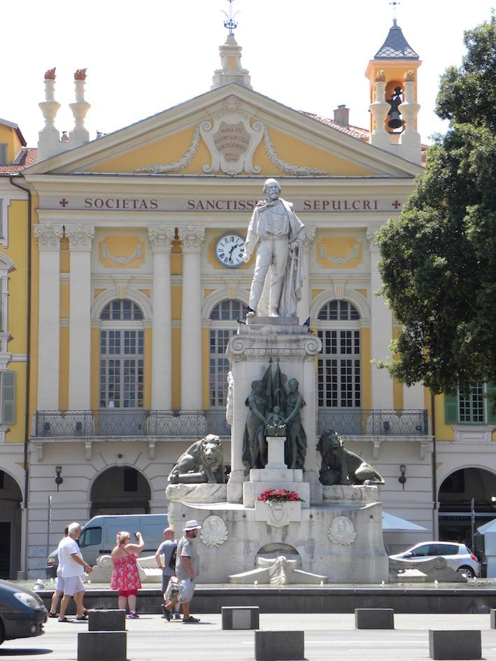 La statue de Giuseppe Garibaldi