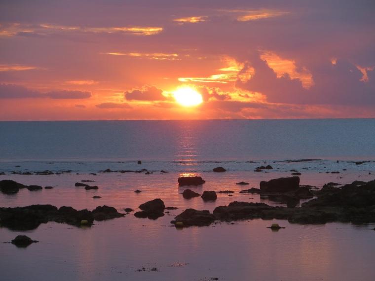 Sonnenuntergang auf Mauritus