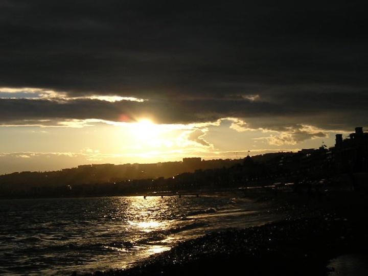 Sonnenuntergang in Nizza