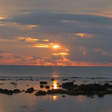 Sonnenuntergang Mauritius Westküste