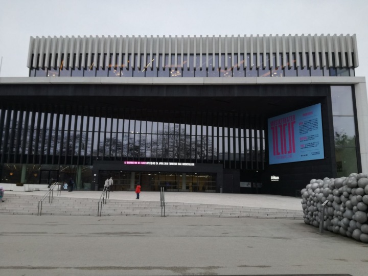 Das Musiktheater Linz von außen