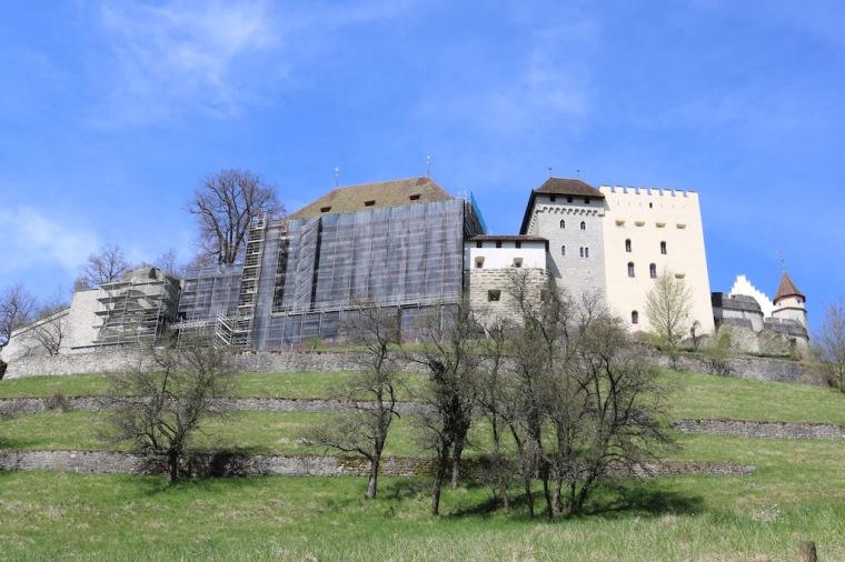 Blick auf das Schloss Lenzburg