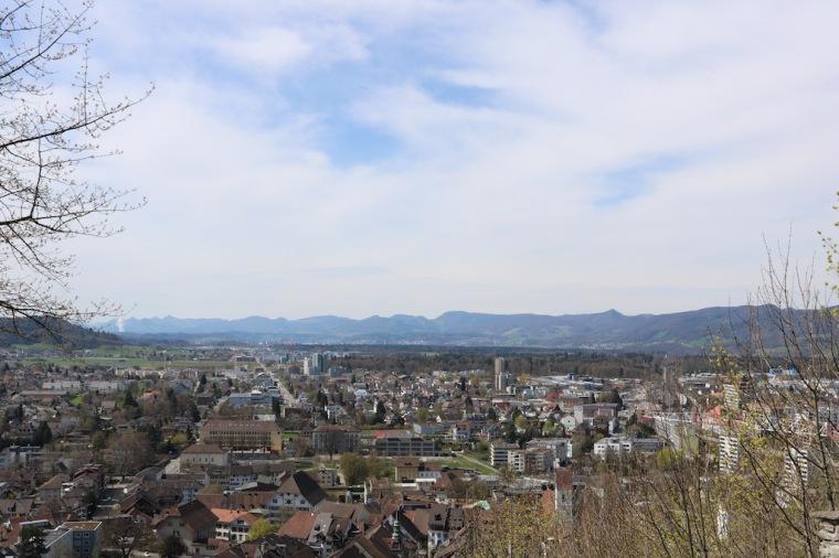 Blick auf Lenzburg