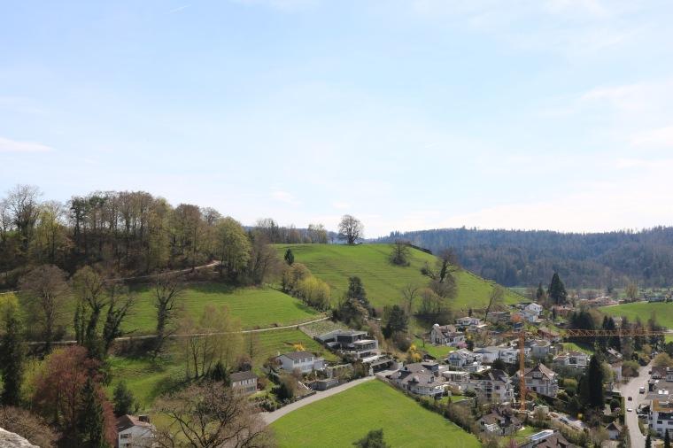 Blick vom Schloss auf Lenzburg