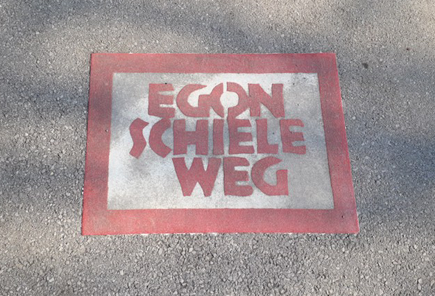 Der Egon Schiele Weg in Tulln