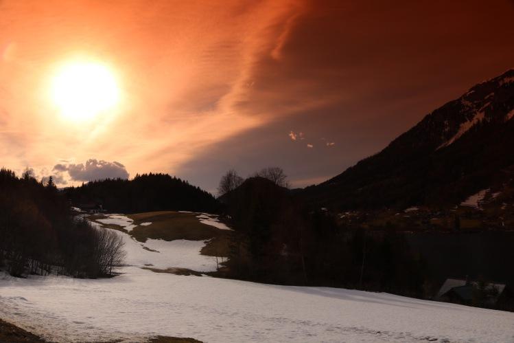 Sonnenuntergang am Grundlsee