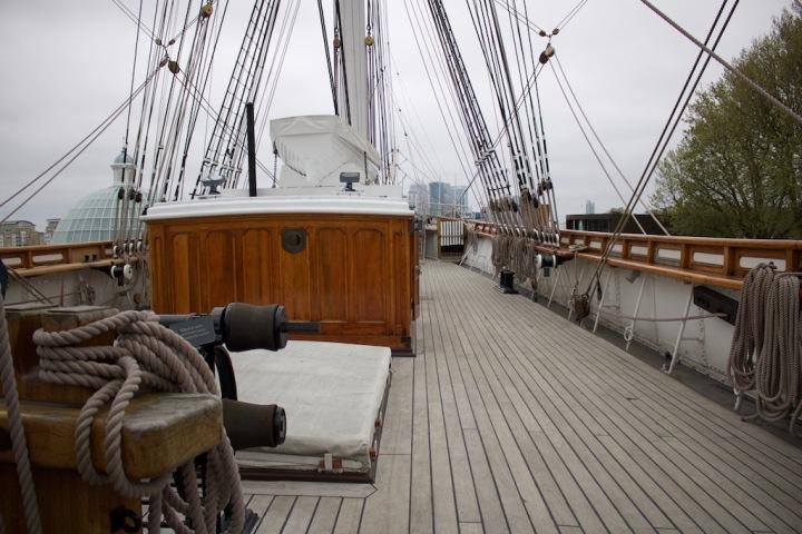 An Deck der Cutty Sark