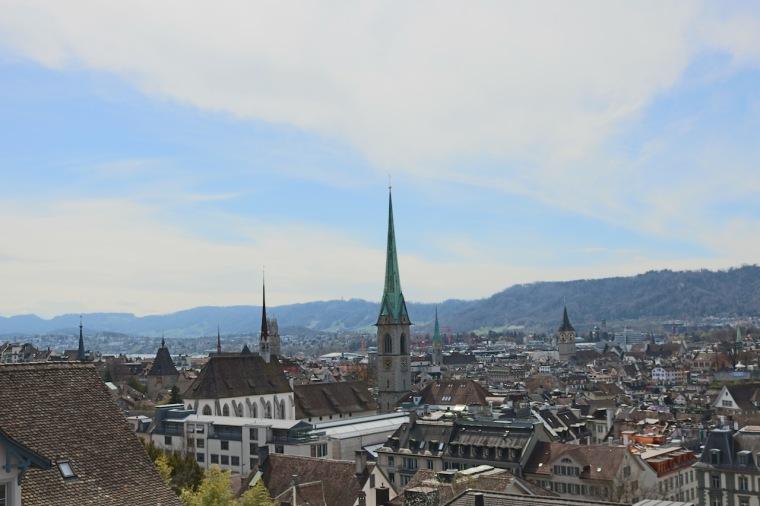 Aussicht von der Polyterrasse auf Zürich