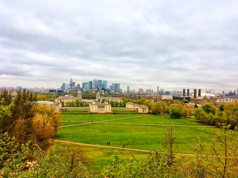 Greenwich London Royal Observatory Ausblick