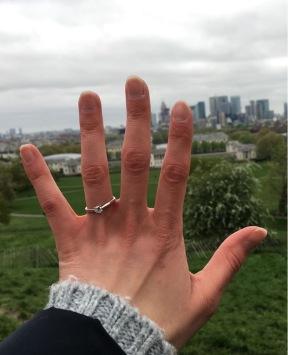 Heiratsantrag in London Greenwich Park April 2018