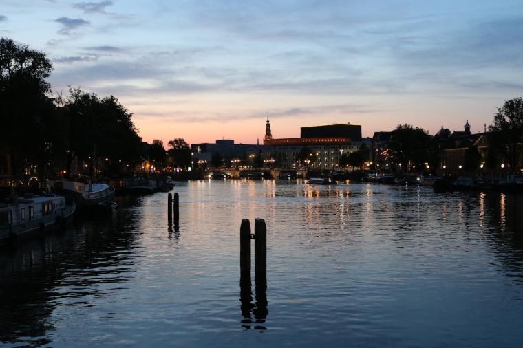 Abendstimmung Amsterdam Städtetrip