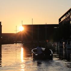 Gegen Ende der Hafenrundfahrt