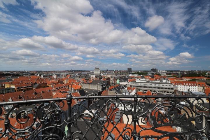 Aussicht vom Runden Turm auf ganz Kopenhagen.JPG