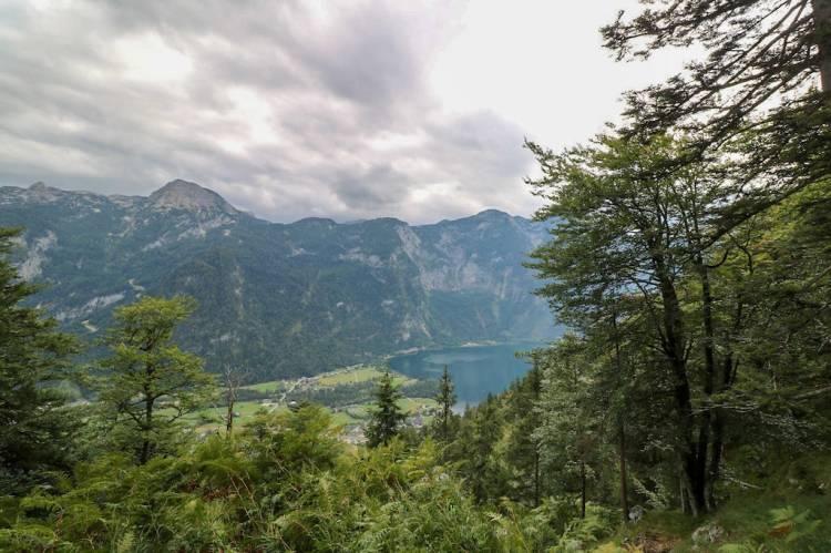 Ausblick auf den Hallstätter See von der Goiserer Aussicht aus