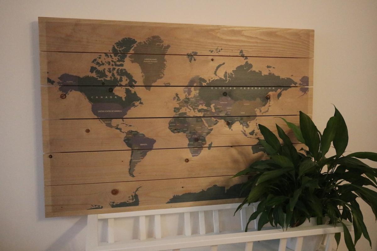 Weltkarte für Weltenbummler + Gewinnspiel  [Werbung]