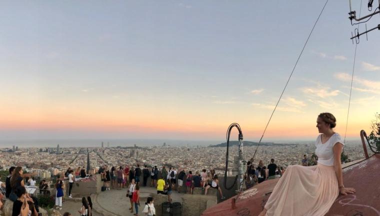 Barcelona_Sonnenuntergang Bunkers del Carmel
