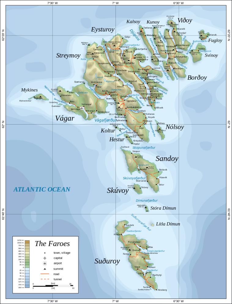Färöer-Inseln_Landkarte_Reiseroutenplanung