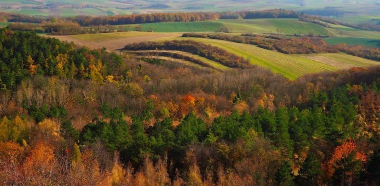 Leiser Berge Aussicht Herbst