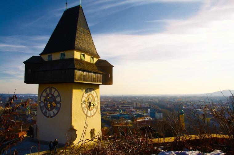 Grazer Uhrturm Advent Weihnachstmärkte