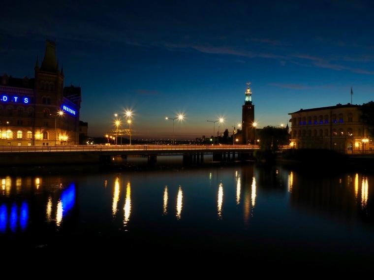 Stockholm NAchtaufnahme Blendenstern