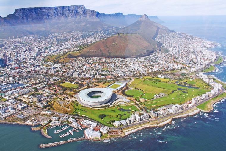aussicht vom helikopter-flug auf kapstadt_südafrika