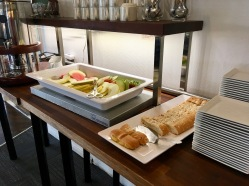 Frühstücksbuffet im Hotel Vágar auf den Färöer-Inseln