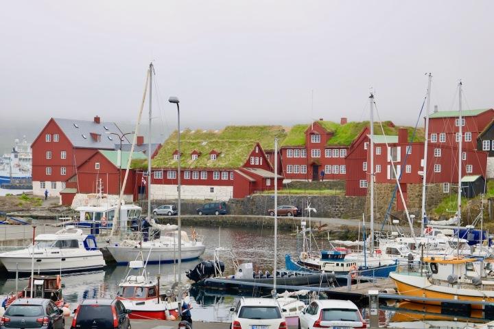 Parlamentsviertel Tinganes Torshavn Färöer-Inseln