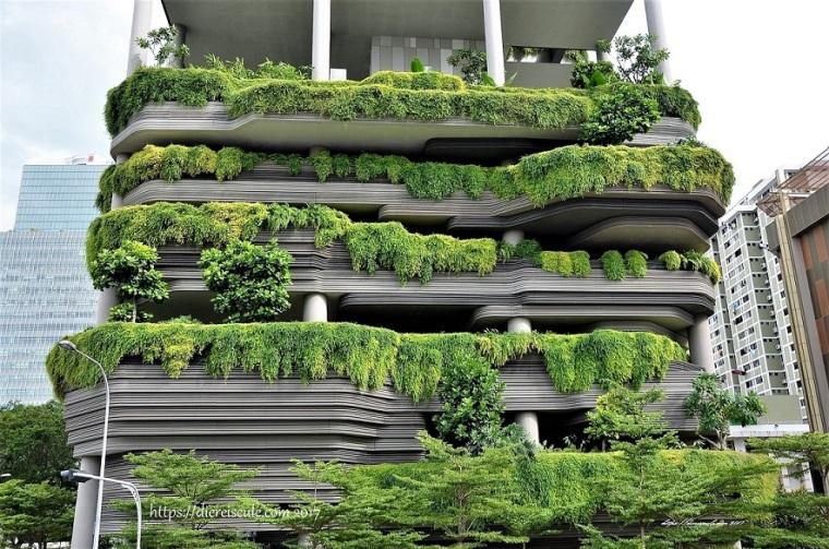 Singapur_grüne Stadt_begrünte Häuser