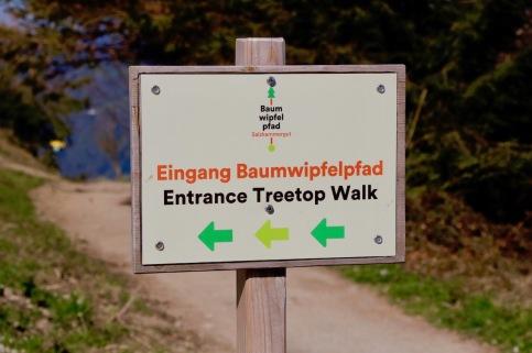 Am Grünberg ist alles sehr gut ausgeschildert. Man kann sich daher nicht verlaufen.