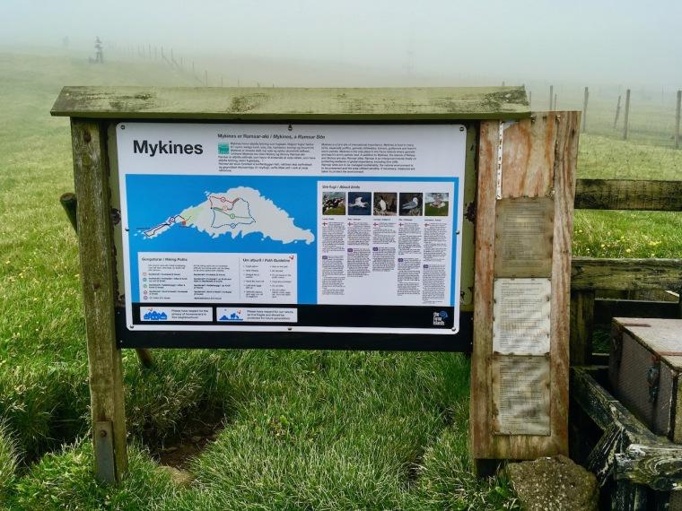 Mykines Übersichtplan Wanderungen