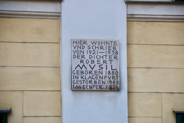 Robert Musil Gedenktafel Wien