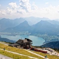 Ausblick vom Schafberg Blick auf den Wolfgangsee