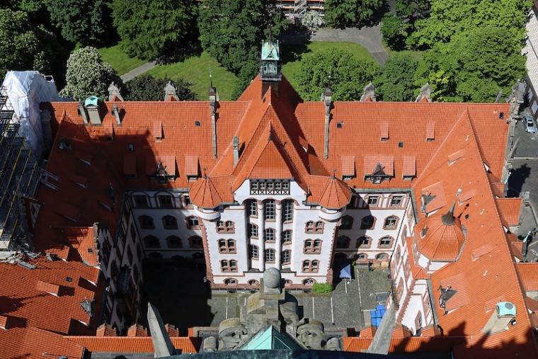 Der Ausblick vom Neuen Rathaus