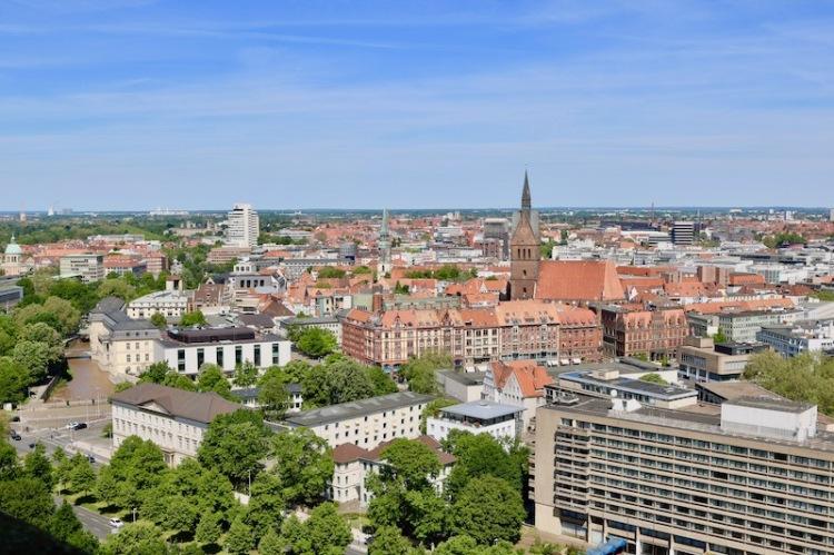 Der Blick über Hannover vom Rathaus aus