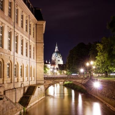 Hannover Städtetrip Fotospots Leineschloss nachts