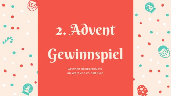 Verlosung zum 2. Advent: Gewinne Reiseprodukte im Wert von 128Euro